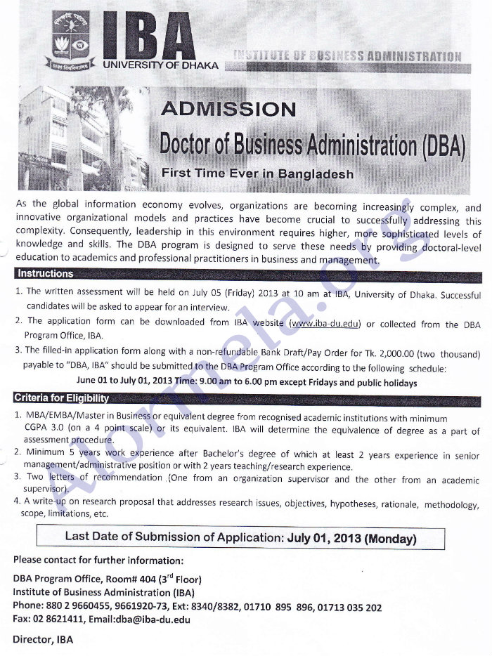 Doctor of Business Administration Admission