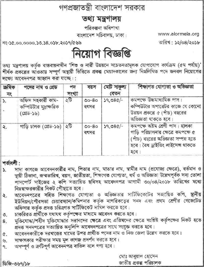 ministry of information job