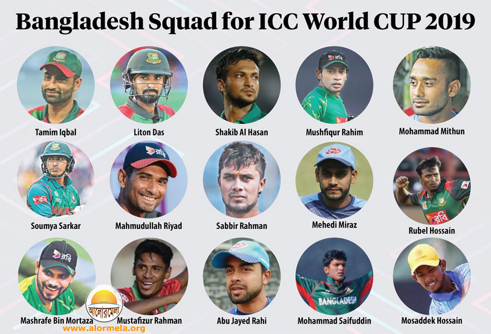 World Cup Cricket Squad Bangladesh