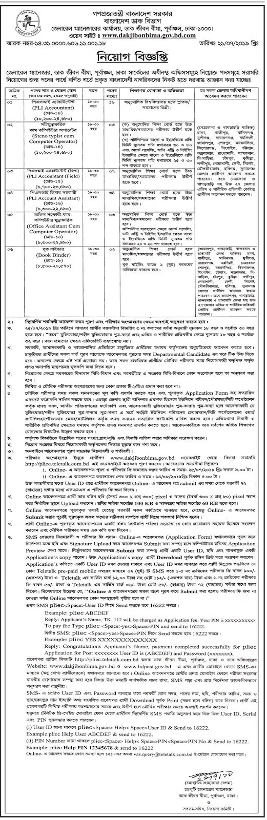Bangladesh Post Office New Job Circular 2019