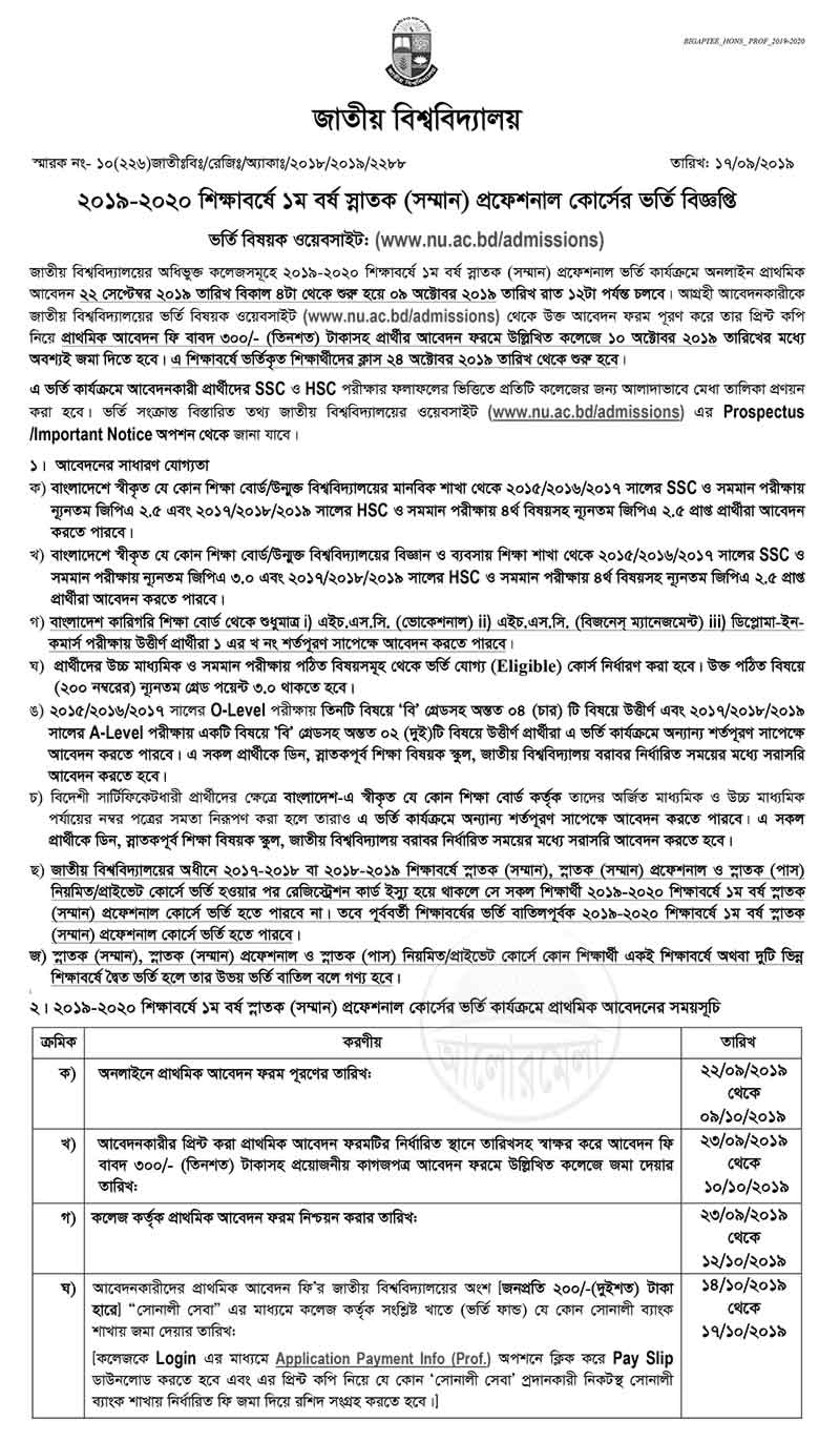 Chittagong college notice board 2019